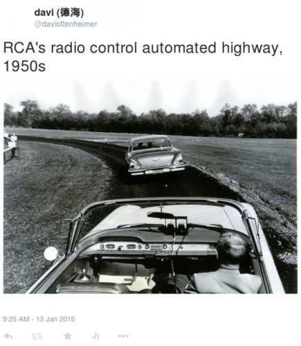 Not many faves for my tweet of the old RCA radio controlled drone concept