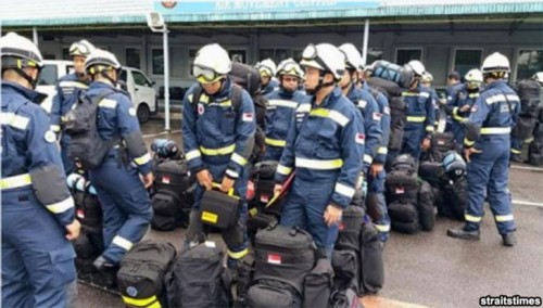 """clouds in the sky"" white helmets and blue suits means safe. yellow means warning or caution"